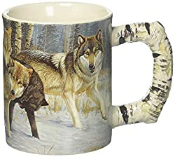 River's Edge Products 3D 15 oz. Mug - Wolf Scene