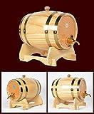 Tonneau en bois de chêne pour stockage ou vieillissement de vins et liqueurs 1,5L-20L 5L blanc