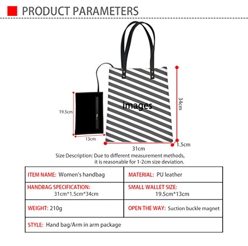 Stylish Print Tote Handbag Advocator 12 Leather Teacher Wallet Color Bag PU Women Casual Bags with Travel Shoulder Yx4wSpq