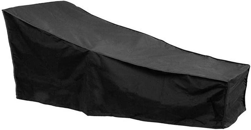 Naiveroo Chaise Lounge Cover 82-inch 210D Waterproof Patio Sun Lounge Covers for Garden Yard Outdoor Furniture Recliner Cover (Black)
