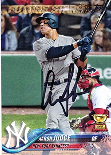 Aaron Judge New York Yankees Autographed Signed Topps Card COA