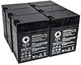 SPS Brand 6V 14 Ah Terminal T1T2 Replacement Battery for Carpenter Watchman A074 (6 PACK)