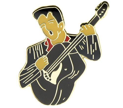 Sujak Military Items Elvis on Guitar King of Pop Collectors Item Hat or Lapel Pin PPM4128