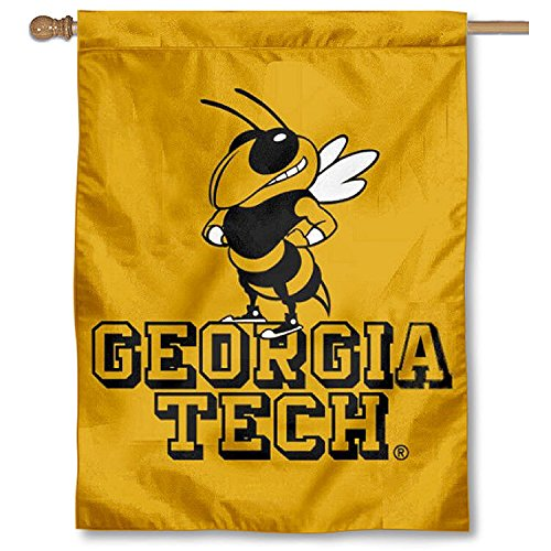 College Flags and Banners Co. Georgia Tech Gold Double Sided House ()