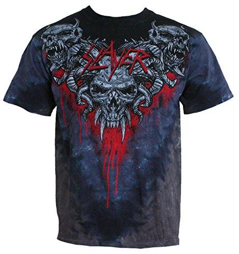 - Slayer Men's Hell Awaits Tie Dye T-shirt Large Black