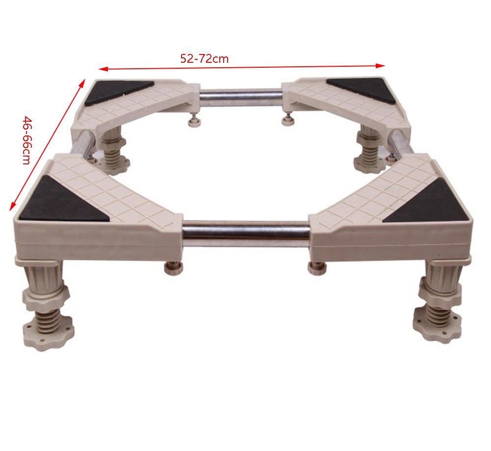 SUBBYE Washing Machine Roller Trolley Adjustable Washing machine base pedestal fridge base settled Moveable Base