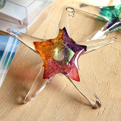 Blue Pink Violet Hanging Starfish Home D/écor 5 Small Glass Star Luke Adams Glass Outdoor Garden Accent Handmade Suncatcher