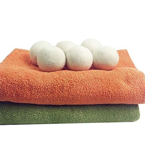 6PCS/Set Natural Reusable Laundry Clean Ball Practical Home Wool Dryer Balls Bonniday