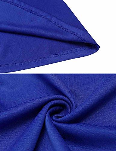 Patchwork Floral Rétro Des Femmes Burlady Une Ceinture Sans Manches Robe Évasé En Forme De Ligne Bleue
