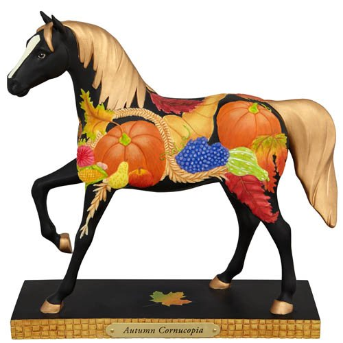 (Trail of Painted Ponies Autumn Cornucopia Fall Harvest Horse Figurine 4041001)