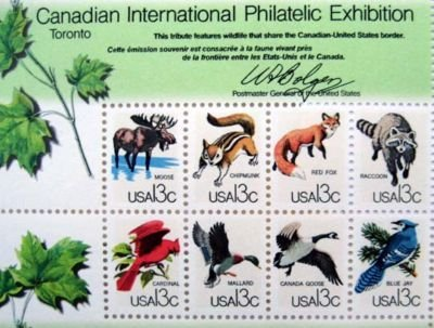 Canadian philatelic USA postage stamps pane of 50 x 13 NEW, MINT