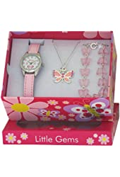 Ravel Little Gems Kids Butterfly Watch & Jewellery Gift Set For Girls R2217