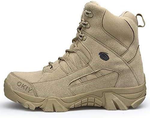 Taktische Stiefel wasserdichte Kommandostiefel Offroad-Schuhe Leder Sport Bequeme Schnürstiefel Stiefel rutschfeste Militärstiefel,Sand Color,41