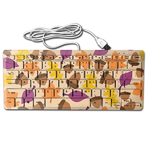 Mini Keyboard USB Wired Ultra Slim Fall Pine Cone Light Portable Universal 78key For Notebook Computer PC Desktops Laptop