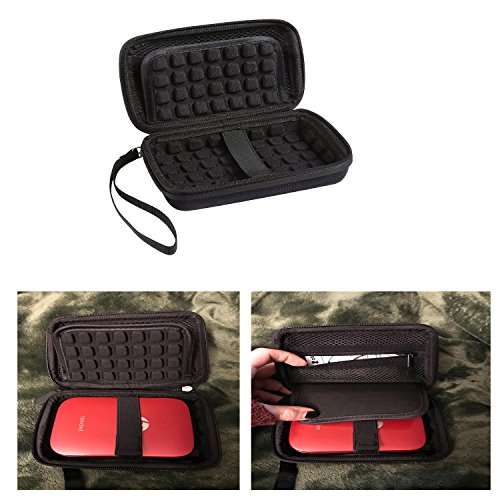 Faylapa Hard EVA Nylon Shockproof Travel Carrying Case Storage Bag for HP Sprocket Portable Photo Printer Black