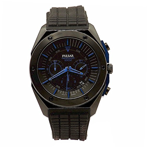 Pulsar Rubber Watch - Pulsar Men's PT3519 On The Go Analog Display Japanese Quartz Black Watch