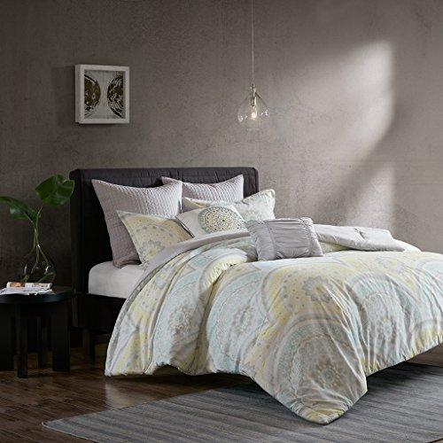 Urban Habitat Matti 7 Piece Cotton Comforter Set Yellow King/Cal King