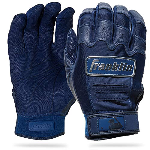 Franklin Sports CFX Pro Full Color Chrome Series Batting Gloves CFX Pro Full Color Chrome Batting Gloves, Navy, Adult XX-Large