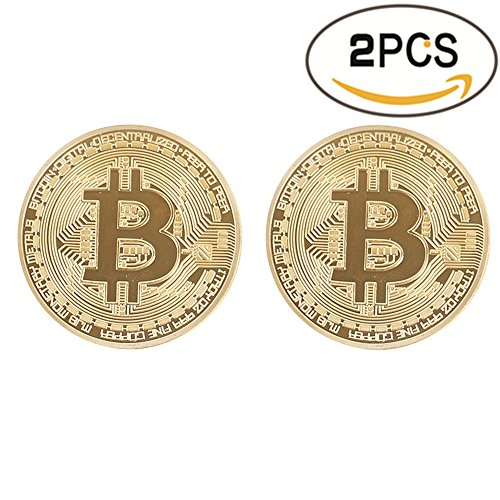 Bitcoin Coin Deluxe Collector S Set   Featuring The Limited Edition Original Commemorative Tokens By Zcccom   Each Coin Comes W  A Plastic Round Display Case  Double Gold