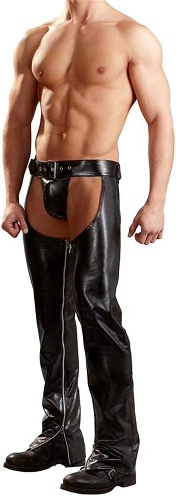 YouYaYaZ Herren Strumpfhosen Wetlook Glanz Lack-Optik Leggings Hosen Unterw/äsche Ouvert-Pants