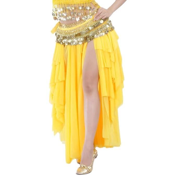 Falda De Gypsy Tribal Danza del Vientre Mujer Faldas Profesional ...