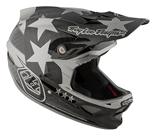 2018 Troy lee Designs D3 Freedom Carbon Bicycle Helmet - Blk/Gry - Medium by Tory Lee Designs