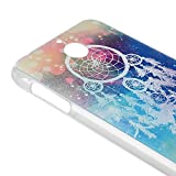 HTC 510 Case MOLLYCOOCLE Fashion Style PC Cover Clear Phone Back Skin Shell with Starry Campanula for HTC Desire 510 +1xStylus Pen +1x Bule Bird Feather Shaped Anti-dust Plug