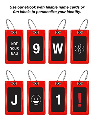 Luggage Tags TUFFTAAG, Business Card Holder, Suitcase Labels, Travel Accessories by ProudGuy (Image #8)