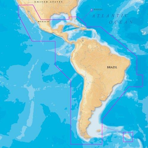Navionics Gold Gps Card - Navionics Gold MSD/3XG 2D Card for Central & South America