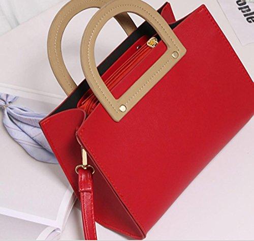 YCMDM donne pacchetto della spalla di modo Borsa retrò Borsa Messenger Portable Piccola Piazza Borsa , red