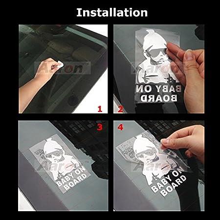 "Milk Bottle /""Baby In Car/"" Car Decal Stickers Cartoon Boy /& Girl Silver White"