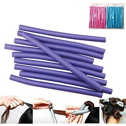 5X 10Pcs Fantastic DIY Curler Makers Soft Foam Bendy Twist Curls Hair Rollers PX from Bazzano