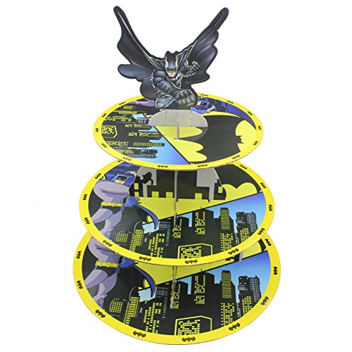 (Betop House 3-Tire Batman Themed Party Cupcake Dessert)
