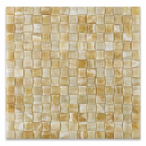 Honey Onyx Polished 3D Small Bread Premium Mosaic Tile - Lot of 50 sq. -