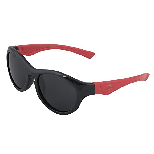 ba7bd896dc5f Kids Flexible Rubber Sunglasses for Boys and Girls - Black and Red Bendable  and Unbreakable Round