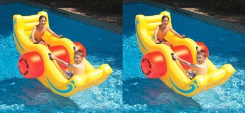 2) Swimline 9058 Swimming Pool Inflatable Sea-Saw Rocker See-Saw Float Lounges ()