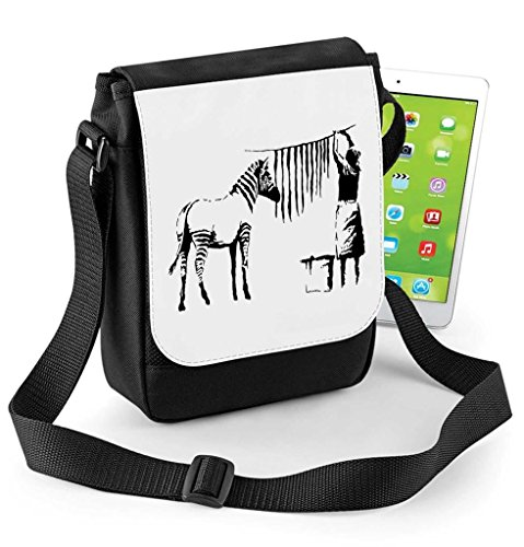 Zebra Stripes Out Hanging Washing or Bag Mini Tablet Compatible Ipad And Banksy Digital Reporter WXnxZIwZ