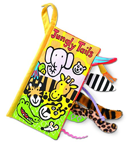 Jellycat Soft Cloth Books, Jungly Tails - Animals Cloth Books