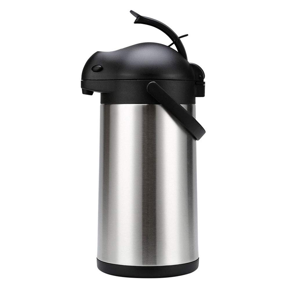 Ninja Coffee Bar Carafe, Air Pot Beverage Dispenser (2.5L, 3L, 4L, 5L) Brushed Stainless, Insulated Coffee Carafe, Mr Coffee Carafe,coffee Carafe, Portable Bottle Warmer, Hot Beverage Dispenser