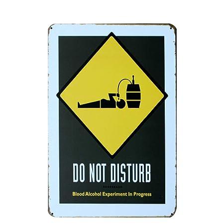 HiSign Do Not Disturb Retro Cartel de Chapa Coffee Póster ...