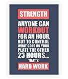 Lab No. 4 Strength anyone can workout Gym Quotes Poster Size A3 (16.5'' X 11.7'')