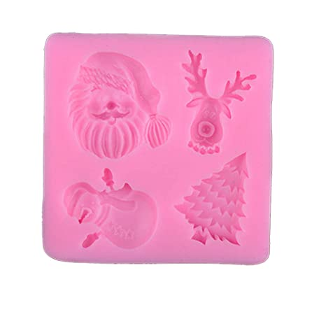 Gessppo Christmas Silicone Cake Mold Baking Tool for Bread Chocolate Cookie Jelly Biscuit Candy Mould Kitchen