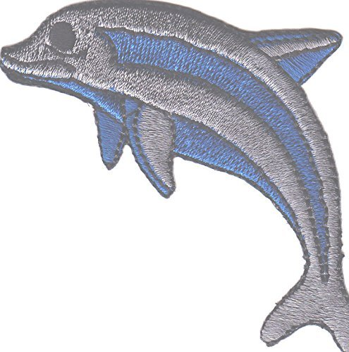 DOLPHIN - Seafish--Iron On Embroidered Applique Patch/, Ocean/Sea Creature -