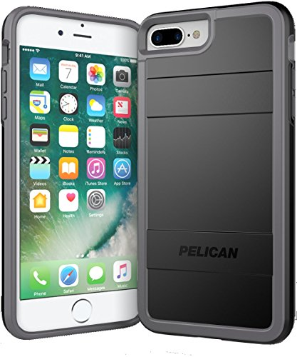 Pelican iPhone 7 Plus Case (Black/Light Gray) ()