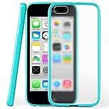 Funda protectora OneFlow para funda iPhone 5C Carcasa silicona TPU 1,5mm | Accesorios cubierta protección móvil | Funda móvil paragolpes bolso traslúcida transparente en Aqua-Cyan