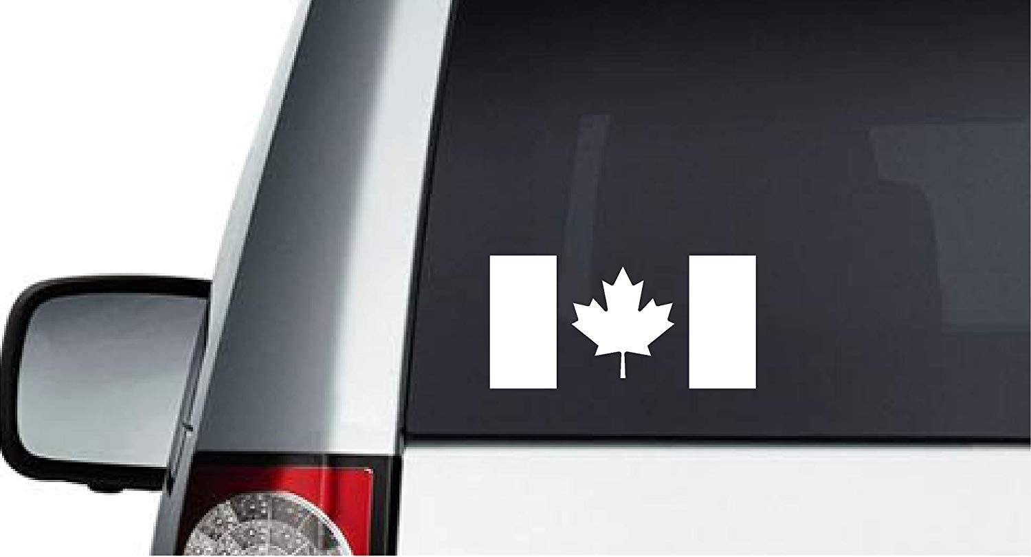 Car Bike Bumper Stickers and Much More Helmet Laptop Cell Phone Premium Canada Flag Decal Stickers Pack of 6 Decals for Truck Hardhat Tablet