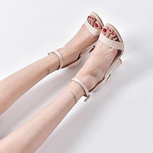 Beautyjourney Sandales Pompon Femme, Sandales Ete,Mules Tongs Les Femmes Bow Sandales D'éTé Chaussons Tongs Chaussures de Plage Sandale Spartiate Beige