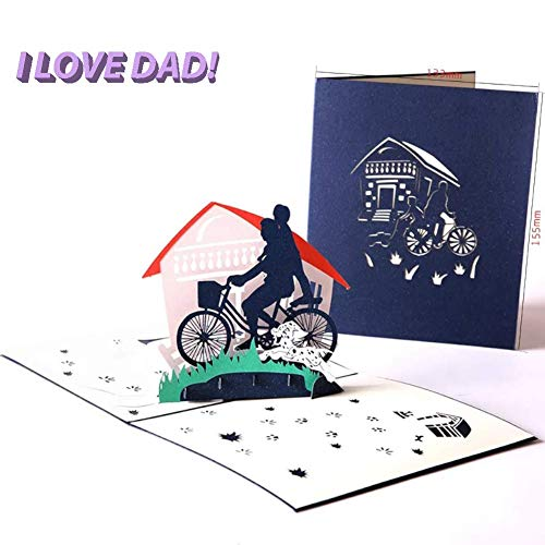 L&Z 3D Creative Pop up Hollowing Out Greeting Cards, Father's Day Cards, Dad's Birthday Cards, Blessing to Dad and Thanksgiving Card ()