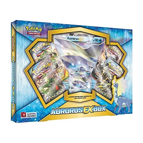 f704f6aab87bce Amazon.com: Pokemon TCG: Aurorus EX Pokemon Box - Contains 4 Booster Packs  and Aurorus EX Rare Pokemon Card: Toys & Games