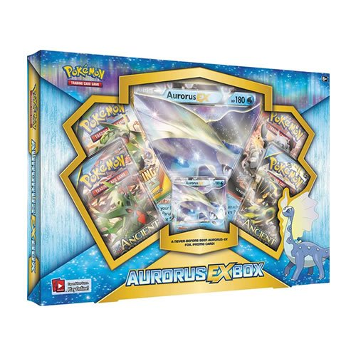 Pokemon TCG: Aurorus EX Pokemon Box - Contains 4 Booster Packs and Aurorus EX Rare Pokemon Card (The Most Strongest Pokemon Card In The World)